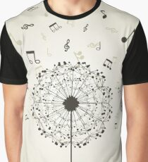 Music a dandelion Graphic T-Shirt