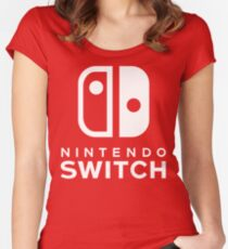 Nintendo Switch Hi-Res Logo Women's Fitted Scoop T-Shirt
