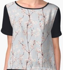 Blossom. Watercolor seamless floral pattern Women's Chiffon Top