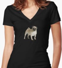 pug | dogs Women's Fitted V-Neck T-Shirt