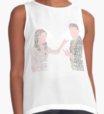 FitzSimmons' Quotes Minimal Art Sleeveless Top