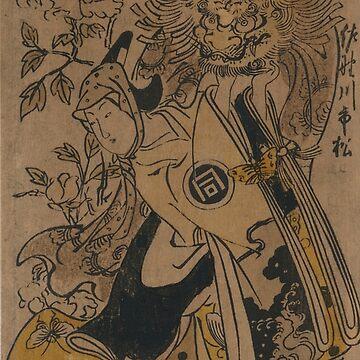 The actor Sanogawa Ichimatsu in the role of Shakkyo dancer - Masanobu Okumura - 1741 by CrankyOldDude