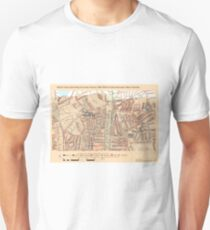 Booth's Map of London Poverty for Stoke Newington ward, Hackney Unisex T-Shirt