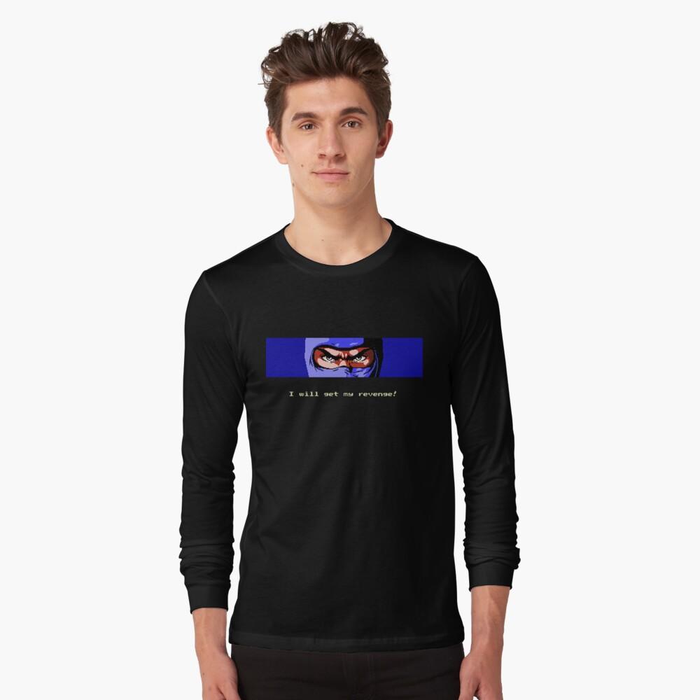 Ninja Revenge on black Long Sleeve T-Shirt Front