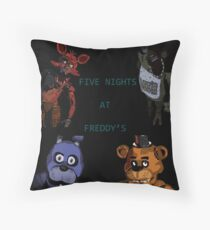 Five Nights at Freddy's fan made picture Throw Pillow