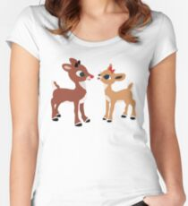 Classic Rudolph and Clarice Women's Fitted Scoop T-Shirt