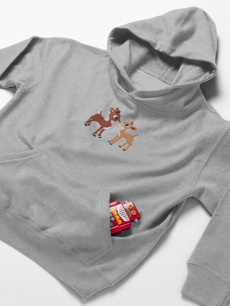 Alternate view of Classic Rudolph and Clarice Kids Pullover Hoodie