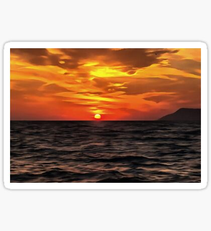 Sunset Over The Mediterranean Sea Sticker