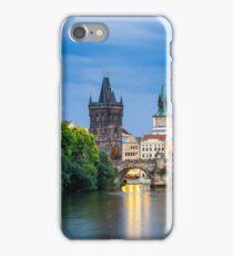Dusk Prague Czech Republic iPhone Case/Skin