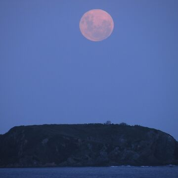 Full Moon over Tollgate Islands by Baynanno1