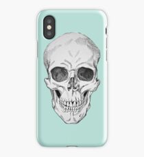 Frontal Skull Anatomical Drawing iPhone Case/Skin