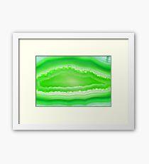 Green agate mineral super macro Framed Print