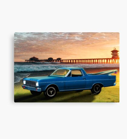 1966 Ford Ranchero at the Pier Canvas Print