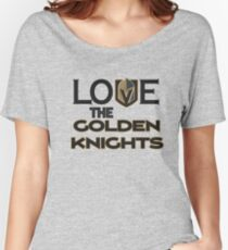 Camiseta ancha para mujer LOVE Vegas Knight Hockey Camisetas