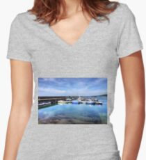 Maidens Harbour Women's Fitted V-Neck T-Shirt