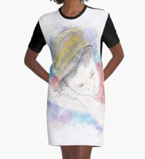 The Little Conductor Graphic T-Shirt Dress