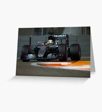 Lewis Hamilton Formula 1  Greeting Card