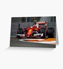 Kimi Raikkonen Ferrari Formula 1 2016 Greeting Card