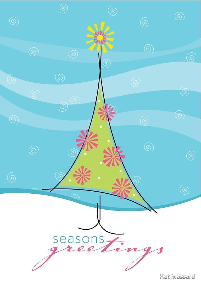 Christmas Card - sweet little tree by Kat Massard