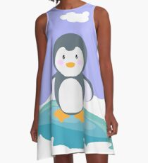 Freezing in the iceberg A-Line Dress