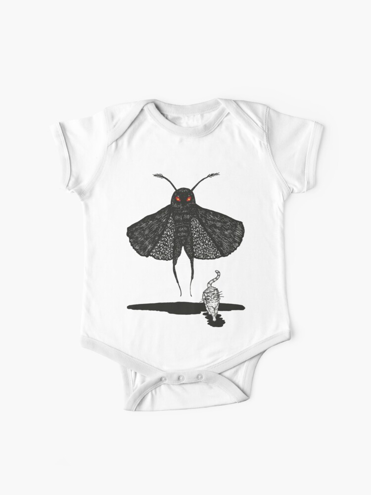 Mothman and a Cat | Baby One-Piece