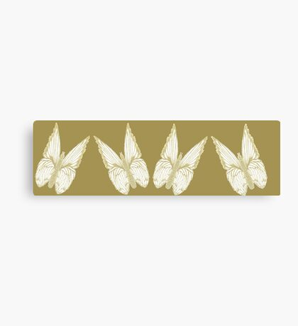 Golden Butterflies see also kazm gilded-butterfly Canvas Print