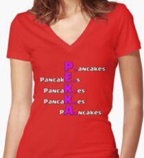 PEKKA Pancakes Women's Fitted V-Neck T-Shirt