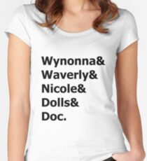 Wynonna Earp - Wynonna & Waverly & Nicole & Dolls & Doc. Women's Fitted Scoop T-Shirt