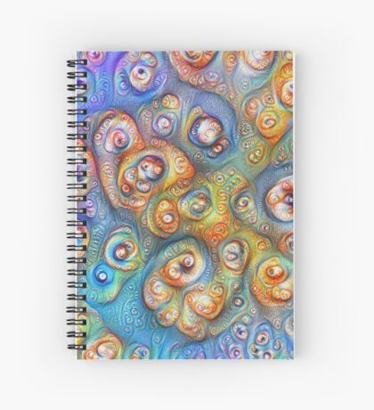Planet Four #Deepdream Spiral Notebook
