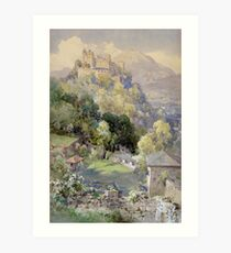 Overlooking the Hohenwerfen Fortress in Salzburg by Edward Theodor Compton Art Print