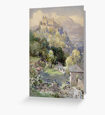 Overlooking the Hohenwerfen Fortress in Salzburg by Edward Theodor Compton Greeting Card