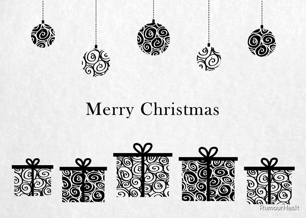 Joyeux Noël Noir Et Blanc Par Rumourhasit Redbubble