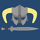 Iron helmet & imperial sword by stegopawrus
