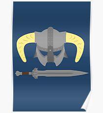 Iron helmet & imperial sword Poster