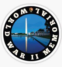 World War II Memorial circle Sticker