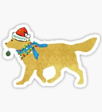Golden Retriever Naughty Christmas Dog Sticker