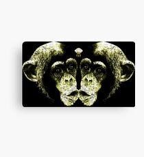 Monkey Kiss Canvas Print