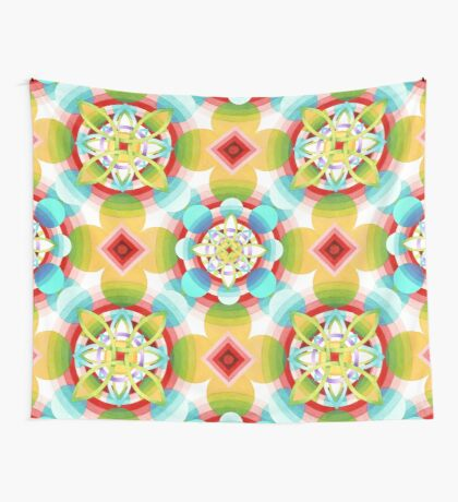 Retro Ombre Flowers (large scale) Wall Tapestry