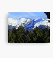 Colorado Pikes Peak, Mountain Range, Colorado Art Canvas Print
