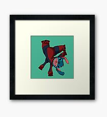 Spider Stitch Framed Print