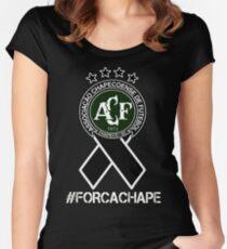 Chapecoense - Forca Chape Women's Fitted Scoop T-Shirt