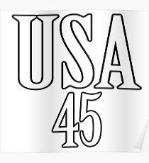 USA 45 - President Trump Poster