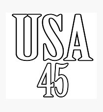 USA 45 - President Trump Photographic Print