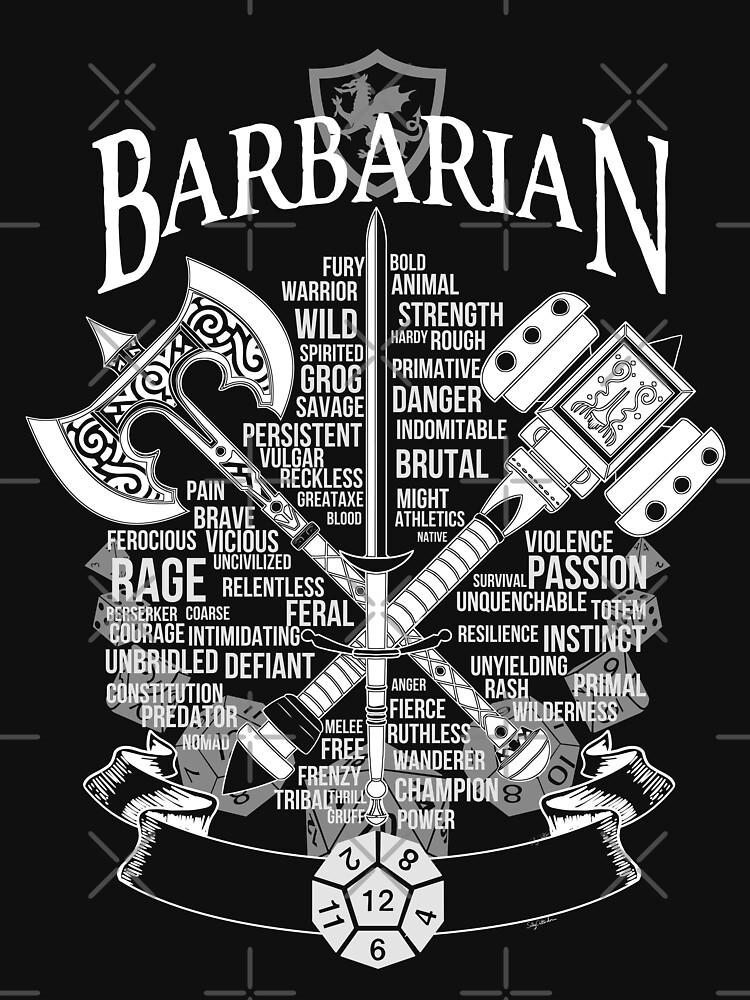 RPG Class Series: Barbarian - White Version by Milmino