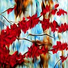Abstract Cherry Tree Oil Painting by Fred Seghetti