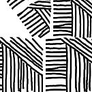 Line pattern black and white by HEVIFineart