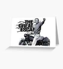 Steve McQueen The great escape TRIUMPH TR6 Moto Greeting Card