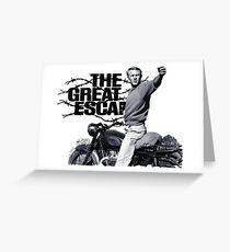 Steve McQueen The great escape TRIUMPH TR6 Moto Greeting Card