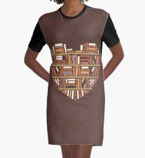 I Heart Books Graphic T-Shirt Dress