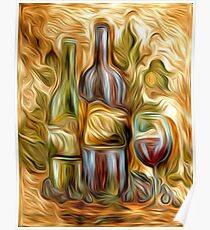 Time for Wine Oil Painting Poster